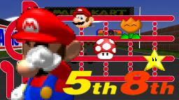 Mario Kart 64 [N64]- 5th~8th Place in Mario Paint Advance