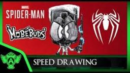 Speed Drawing: Marvel Spider Man PS4 Mr Negative (Concept 1) | MobéBuds Style