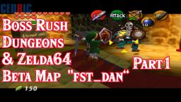 [Nintendo Archive] Zelda Ocarina of Time Boss Rush Dungeons and Zelda64 Beta Map fst dan Part1