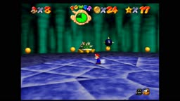 Super Mario 64 - Bowser in the dark world - Defeating Bowser