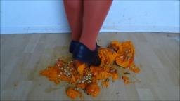 Jana crush a pumpkin with her black adidas sm2 martial art sneaker trailer