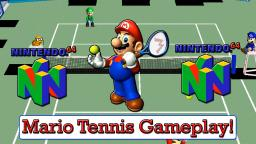 Mario Tennis Review / Gameplay On Nintendo 64 (Old Video)