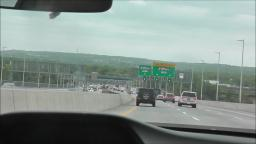DRIVING ON THE GOETHALS BRIDGE FROM NEW JERSEY TO NEW YORK