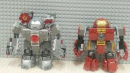 Custom Lego Hulkbuster And War Machine Buster