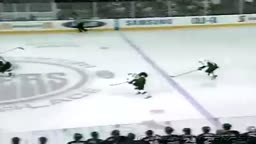 hockey player misses empty net
