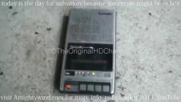 vintage Panasonic cassette recorder test of destruction