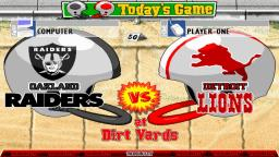 Backyard Football - Oakland Raiders vs. Detroit Lions