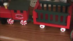 Santa's Express Wood Train Decoration