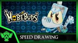 Speed Drawing: MobéBuds - Numbullet (Concept 1) | Mr. A.T. Andrei Thomas