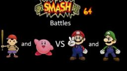 Super Smash Bros 64 Battles #22: Ness and Kirby vs Mario and Luigi