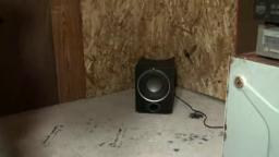 blowing up Acoustic Authority subwoofer