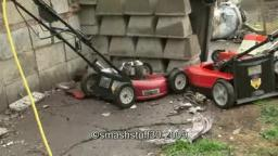 3 HP horse power electric lawn mower destruction