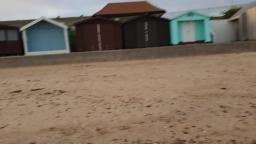 At Clacton On Sea Essex Beach yesterday Evening