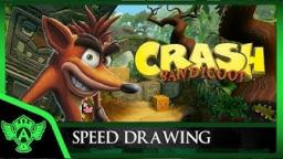 Speed Drawing: Crash Bandicoot | Mr. A.T. Andrei Thomas V