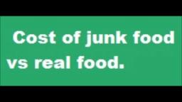 Cost of junk food vs real food