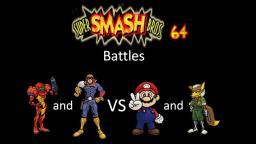 Super Smash Bros 64 Battles #137: Samus and Captain Falcon vs Mario and Fox