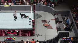 WWE 2K18 Extreme Moment - Apron Piledriver into Flaming Table