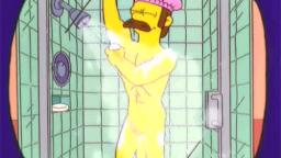 NED FLANDERS GAY BATHHOUSE SHOWER MASTURBATION