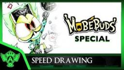 Speed Drawing: MobéBuds Special - Evil Wikky Destroys Vidme's Astro | Mr. A.T. Andrei Thomas