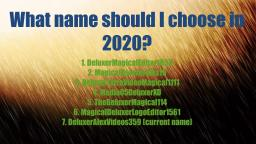 What name should you choose in 2020?