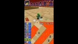 Mario Kart DS Random Hack Comically Large Ocarina of Time Armos Statue Thwomps