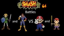Super Smash Bros 64 Battles #42: Link and Captain Falcon vs Mario and Ness