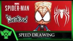 Speed Drawing: Marvel Spider Man PS4 Spidey (Concept 1) | MobéBuds Style