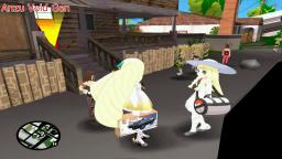 Lusamine y Lillie juegan a BATTLE TANK GTA San Andreas Loquendo