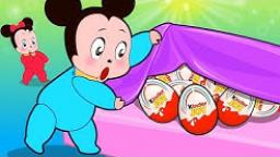 Baby Mickey Mouse - Dragon Kinder Surprise Egg - Cartoons for Kids - Part 4