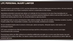 Accidental Death Lawyers Peterborough - LPC - Personal Injury Lawyer Peterborough (705) 243-3685