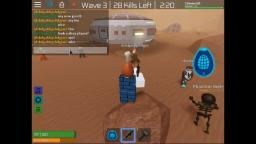 playing roblox zombie rush with my freinds!