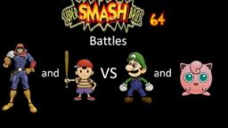 Super Smash Bros 64 Battles #29: Captain Falcon and Ness vs Luigi and Jigglypuff