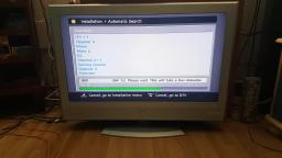 Look at a JVC LT-32DR7 32 inch Silver HD LCD TV & retune freeview