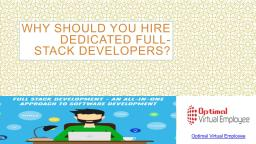 Why should you Hire Dedicated Full-Stack Developers