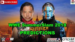 WWE SummerSlam 2018 United States Championship Shinsuke Nakamura vs. Jeff Hardy Predictions WWE 2K18
