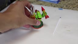 Fireworks Zook + Song (Painting Skylanders Lost Islands Variant - Alter Ego) Custom Paint Job