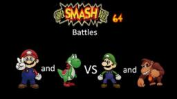 Super Smash Bros 64 Battles #131: Mario and Yoshi vs Luigi and Donkey Kong