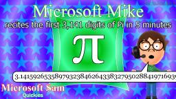 Microsoft Mike recites the first 3,141 digits of Pi in 5 minutes