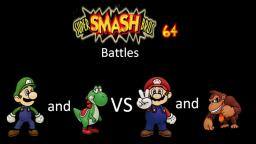 Super Smash Bros 64 Battles #140: Luigi and Yoshi vs Mario and Donkey Kong