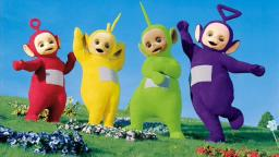 THE TELETUBBIES PARTICIPATE IN COMMUNITY SERVICE GOOD CITIZENS