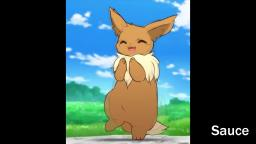 Eevee dancing to the Geico Ring-a-Ding ringtone