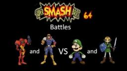Super Smash Bros 64 Battles #108: Samus and Captain Falcon vs Luigi and Link
