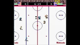 Ice Hockey - Fight - NES Gameplay