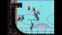 NHLPA 93 - Bloody Fight - Sega Genesis Gameplay
