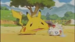 pikachu makes togepi cry like a idiot