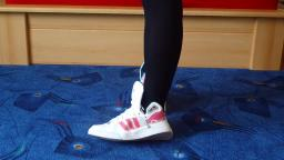 Jana shows her Adidas Extraball white, shiny white and pink