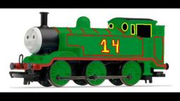 Max the Green Tank Engine in Thomas Merchandise Art
