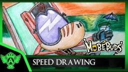 Speed Drawing - MobeBuds Brarios Vacation - Mr. A.T. Andrei Thomas