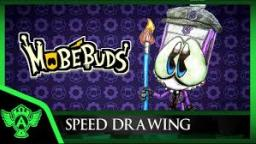 Speed Drawing: MobéBuds Chewey (Concept 1) | Mr. A.T. Andrei Thomas
