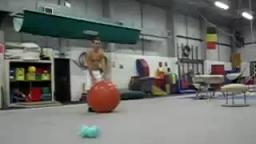 Man Dominates Exercise Ball